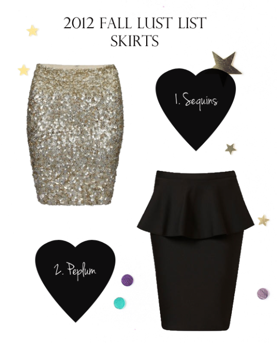 fall skirts, style, fashion, sequins, peplum