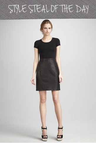 style steal theory leather dress