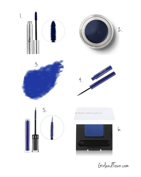 Monday Blues, blue eyeshadow liner mascara