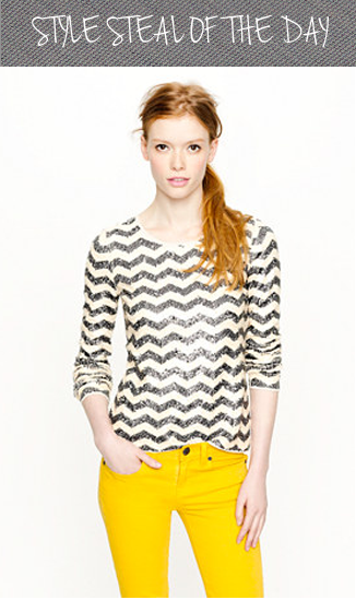 style steal of the day j crew zigzag tee