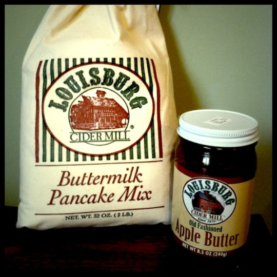 Louisburg cider mill pancakes and apple butter