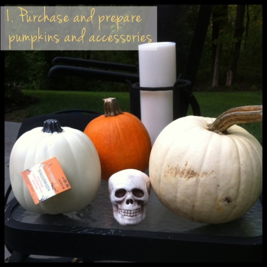 pumpkin makeover diy step 1
