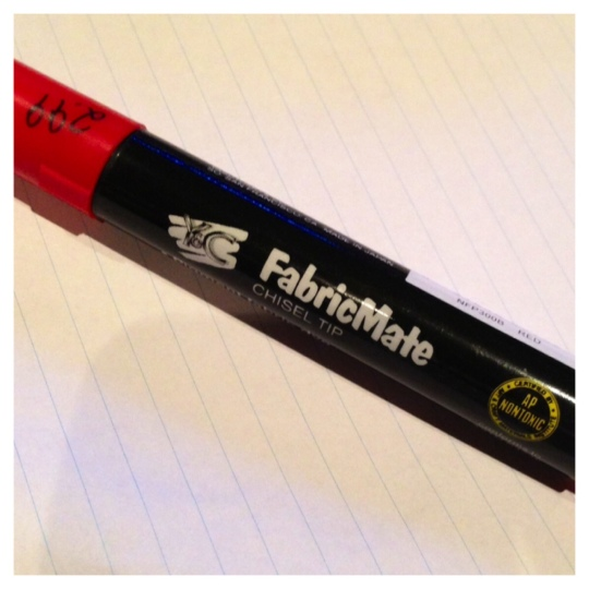 red fabric pen fabricmate