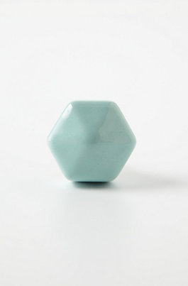 Anthropologie Ceramic Peg Knob