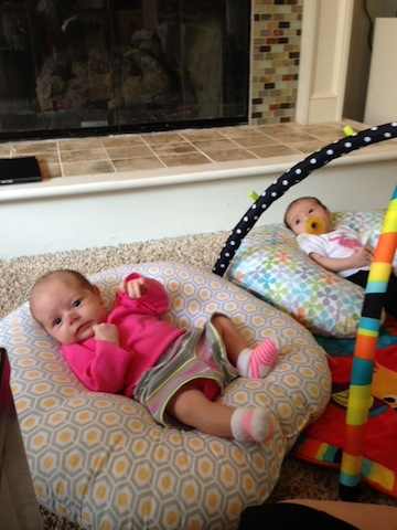 Boppy baby lounger Emma twins