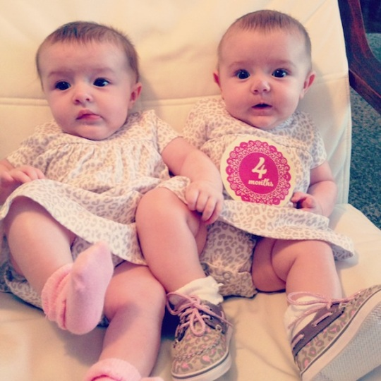 4 month twins