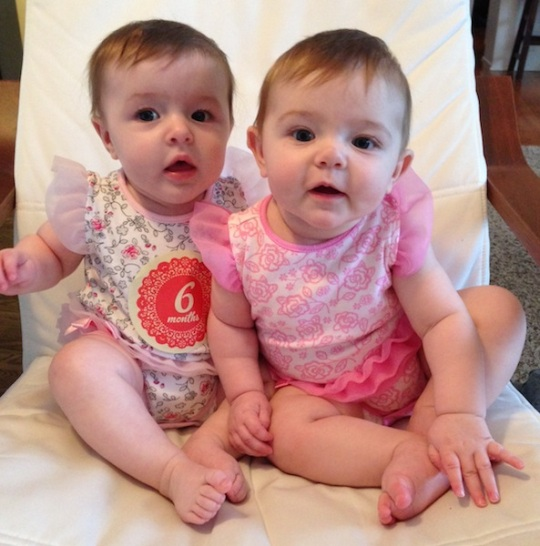 6 month twins