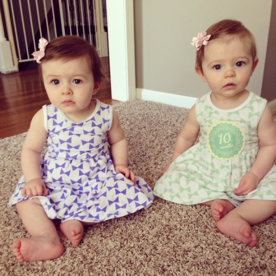 Twin girls 10 months