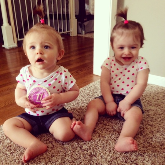Twin girls 11 months